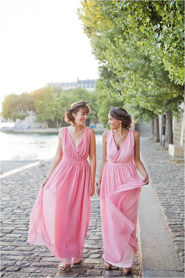 French bridesmaids dresses