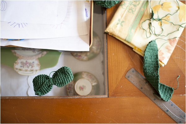 Irish green wedding accessories