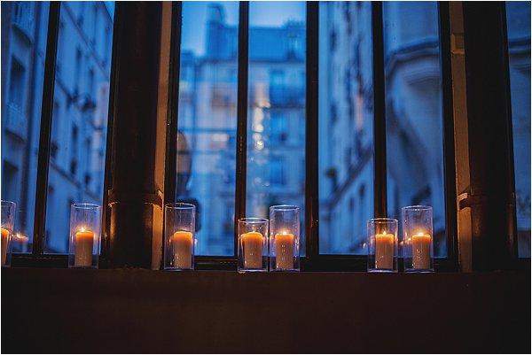 Paris window at night