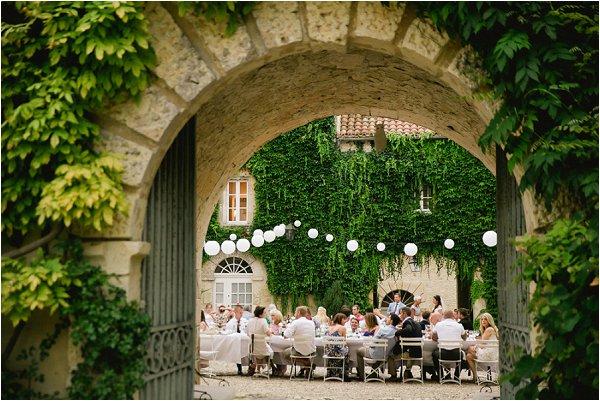 French Wedding Reception at Chateau Malliac