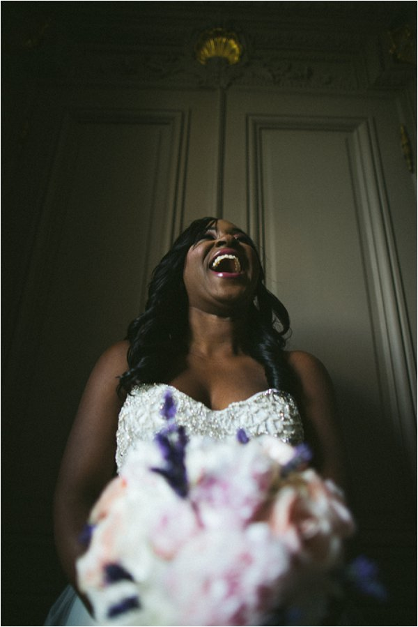 beautiful laughing bride