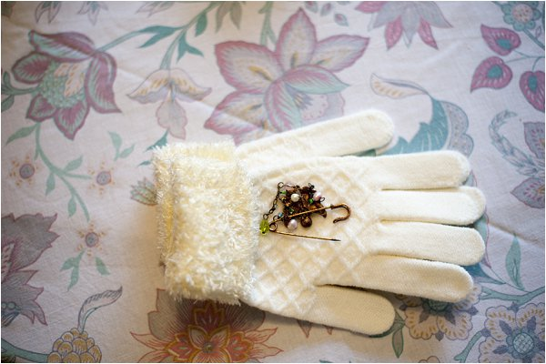 bridal warm gloves