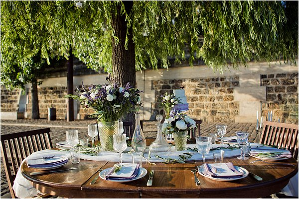 classic outdoor wedding table