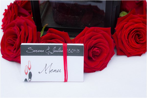 dance place setting cards