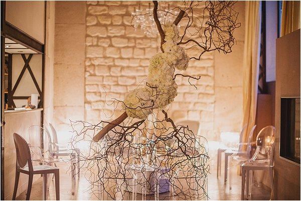 hanging floral sculpture for weddings