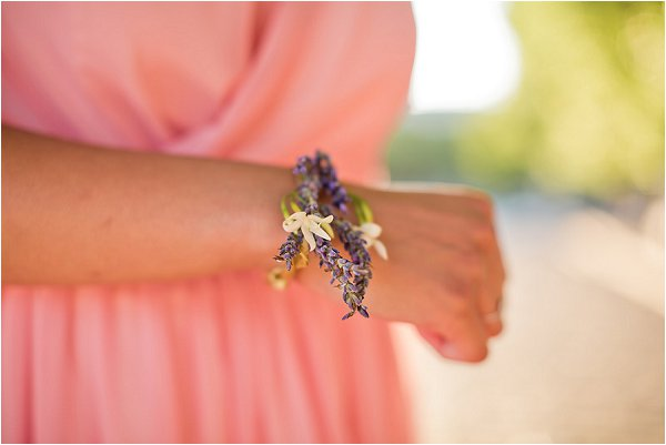 lavender bridesmaids coursage