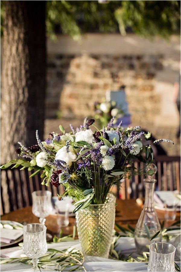 lavender wedding tablecentre