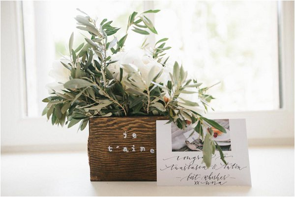 olive inspired wedding