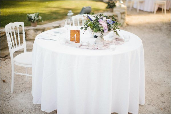 pretty white wedding table