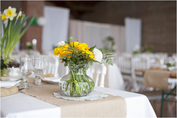 pretty yellow wedding flowers
