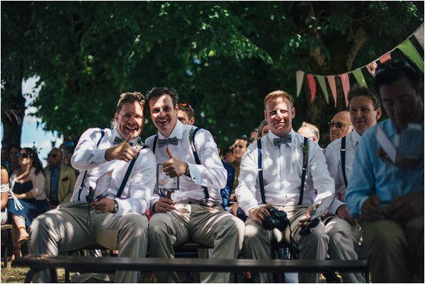relaxed style wedding celebration