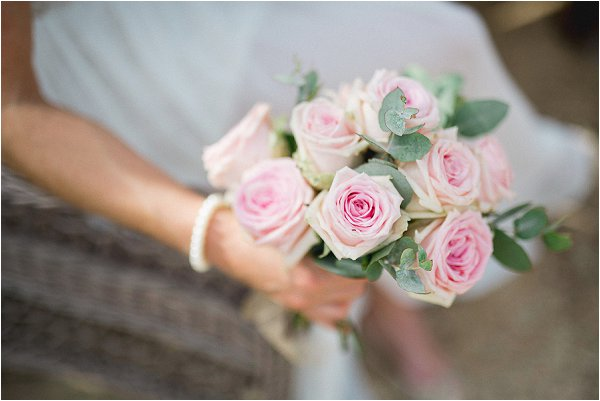 small rose bridal bouquet
