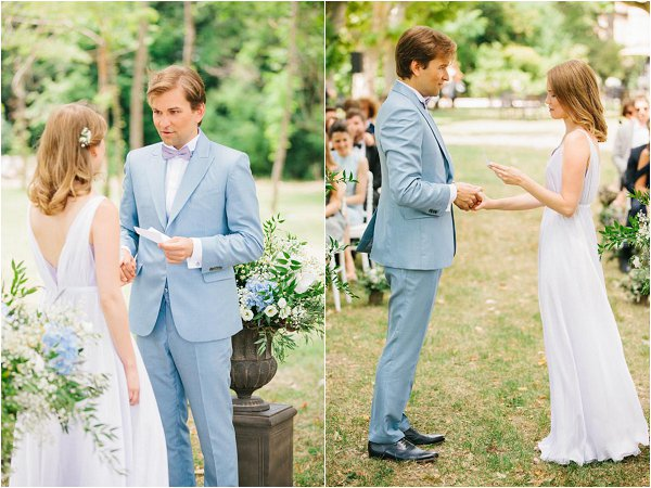 summer outdoor wedding France