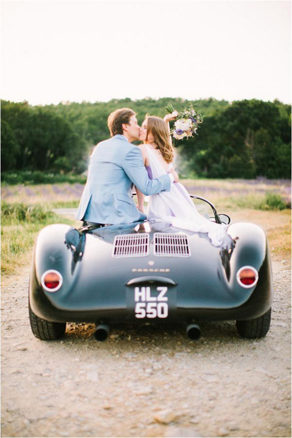 vintage Porsche wedding car Provence