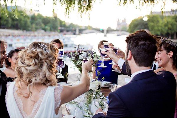 wedding on River Seine