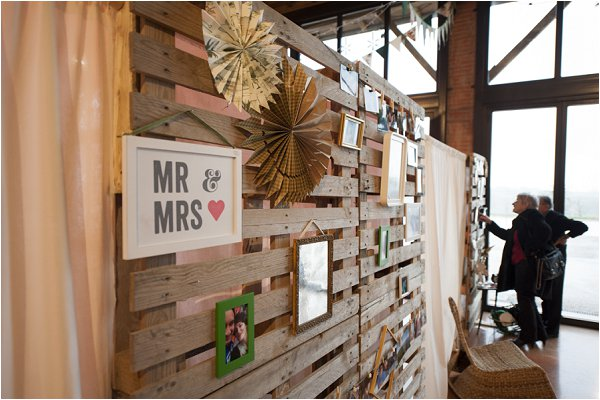 wedding photo wall