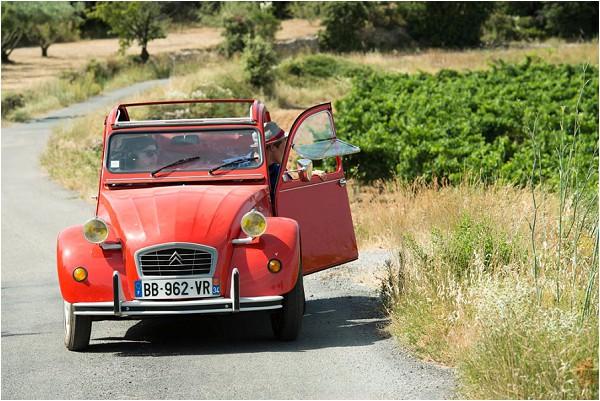 2cv wedding tour France