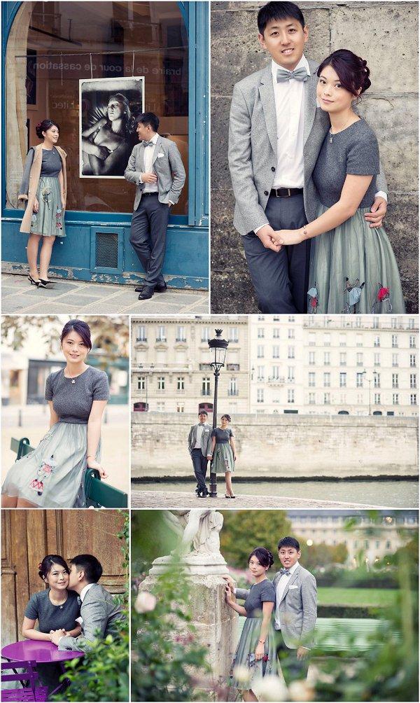 Asian Engagement portrait session in Paris Snapshot