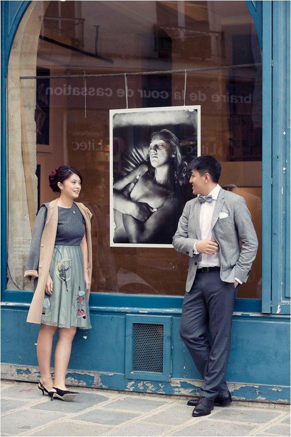 Asian pre-wedding photos in Paris
