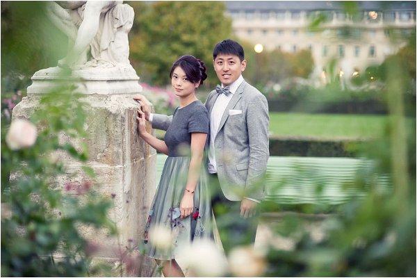 Asian pre wedding portraits Paris