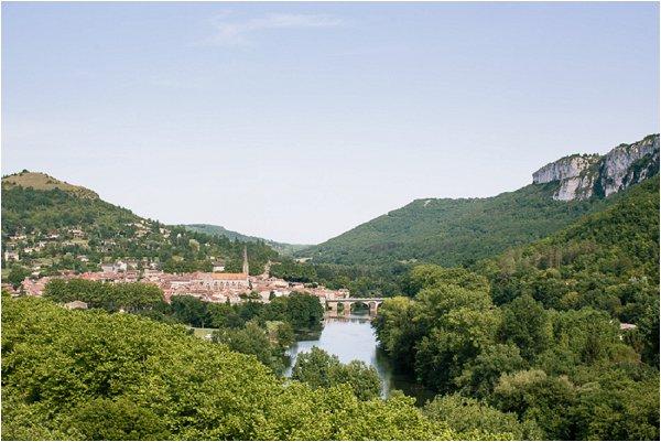 Beautiful town of Senouillac in the Tarn region