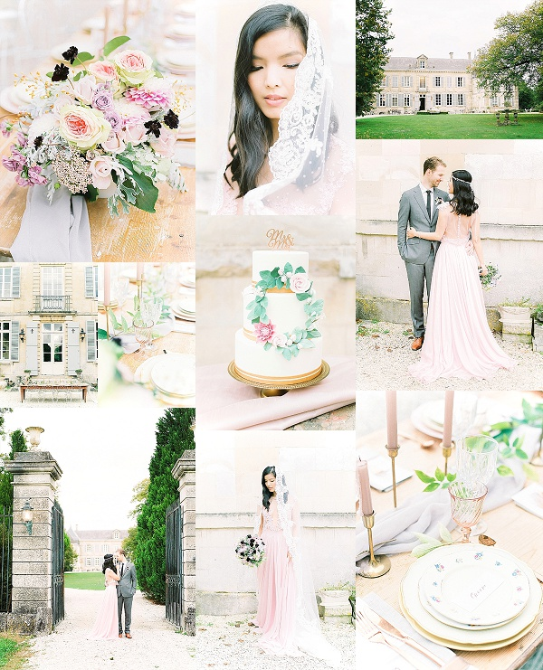 Blush and Copper French Wedding Inspiration Snapshot