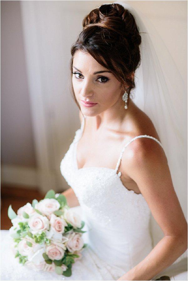Bridal portrait and beautiful wedding jewellery