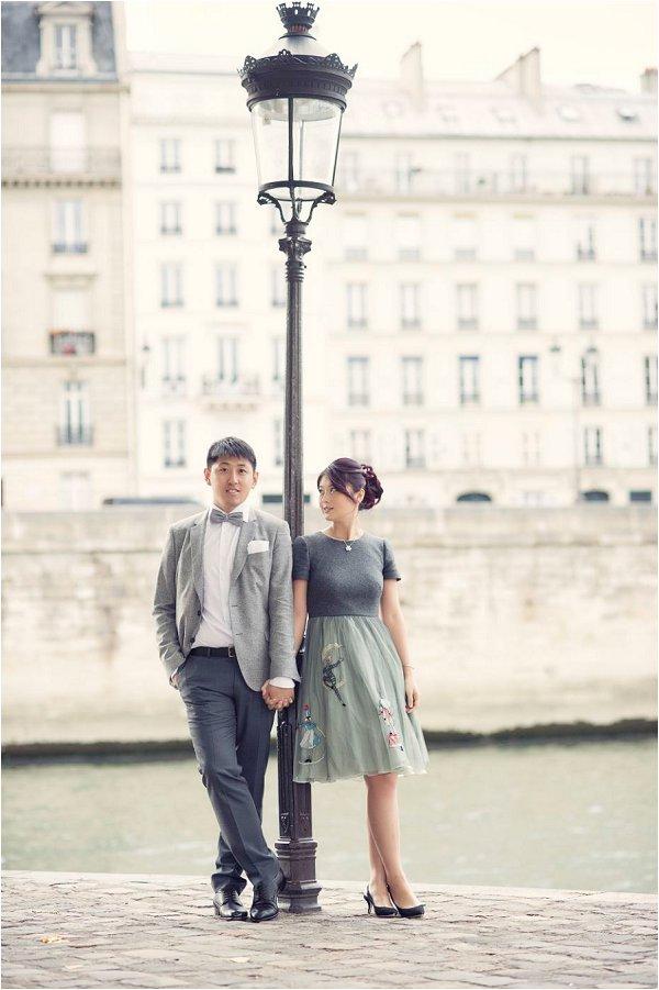 Chic Engagement portrait session in Paris