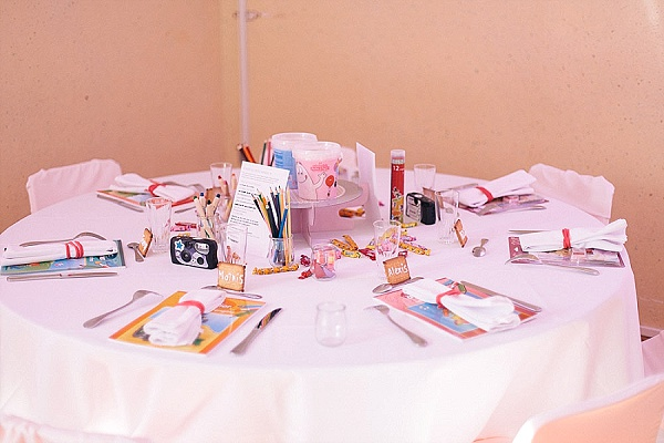 Childrens wedding table ideas