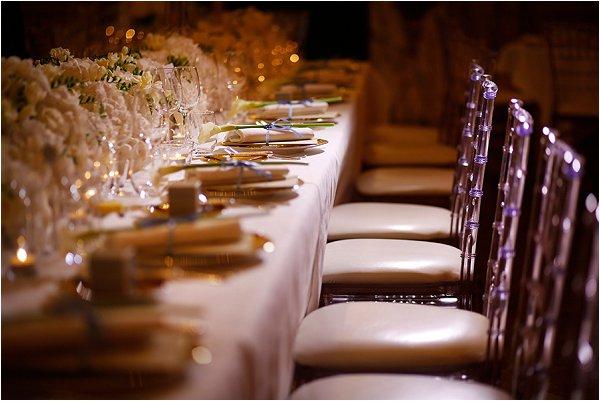 Clear acrylic Chivari chairs for luxury wedding in Paris