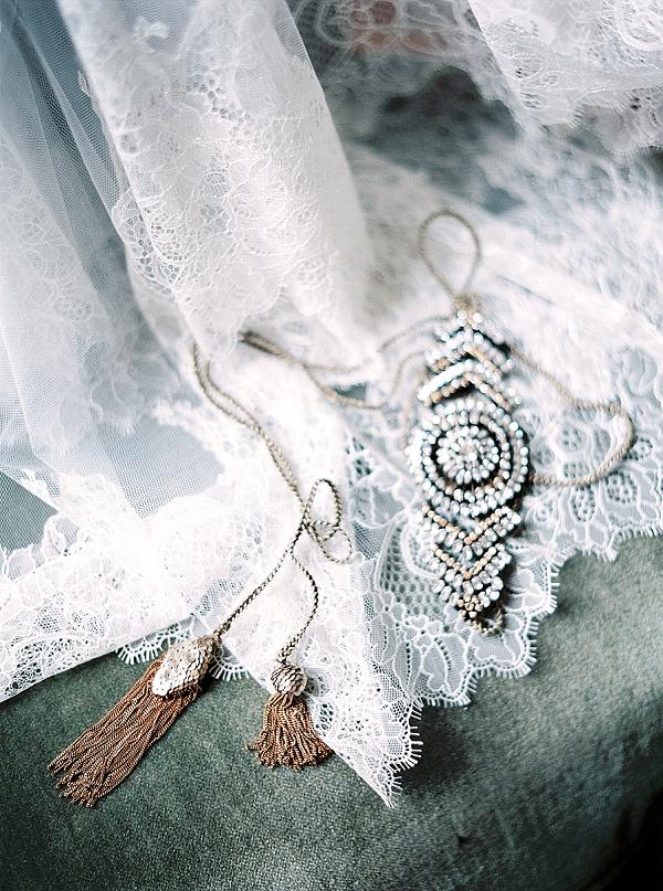 Crystal headpiece bridal