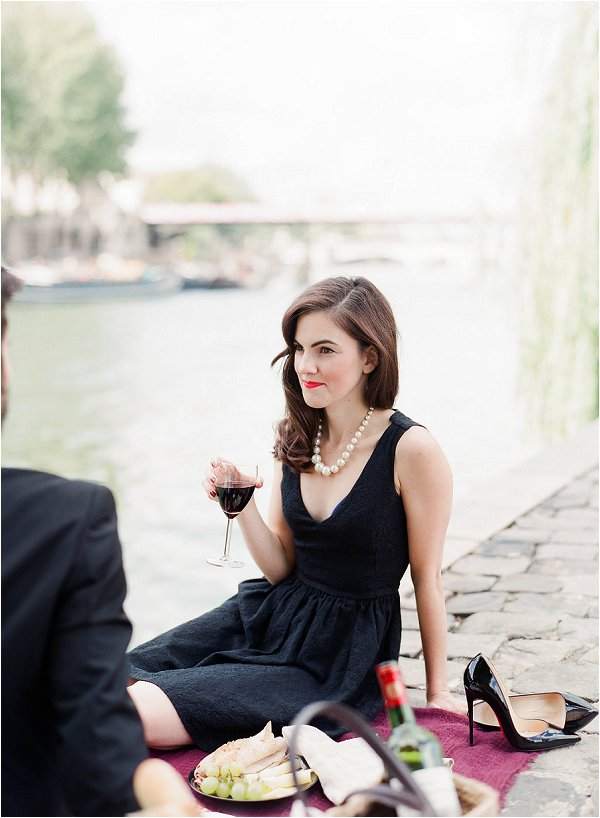 Enjoying a celebration glass of wine