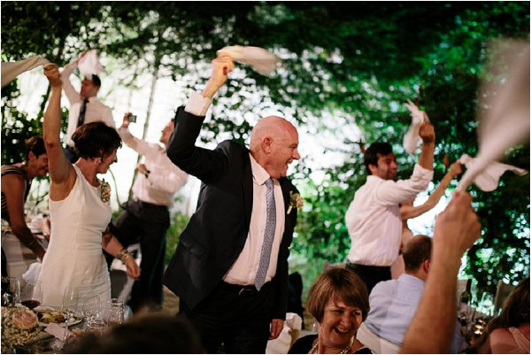 Father of the Bride enjoying the wedding party