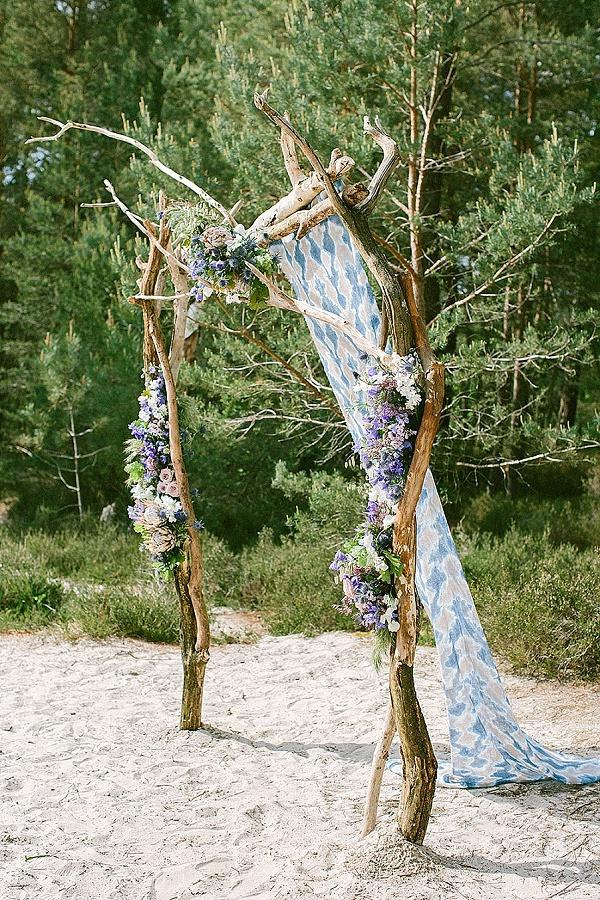 Flower wedding ceremony arch