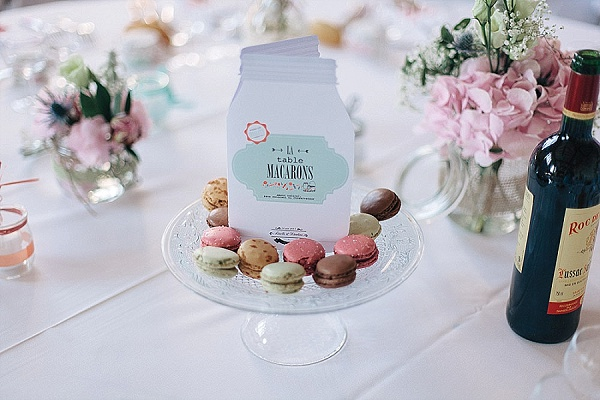 French Macarons wedding table