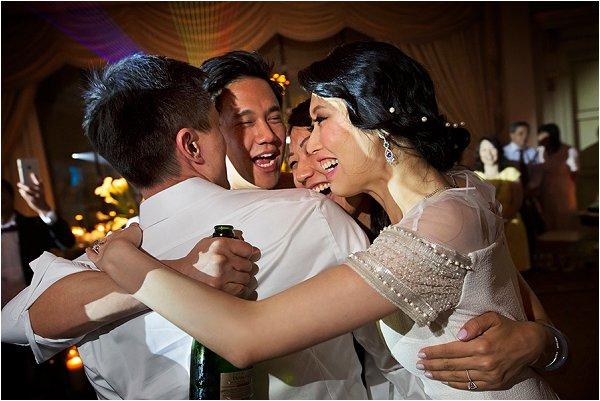 Guests celebrating at luxury Paris Wedding