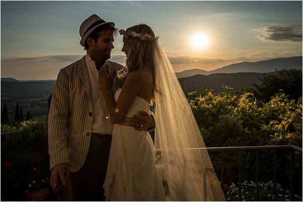 Intimate wedding in Provence of Sarah Scott