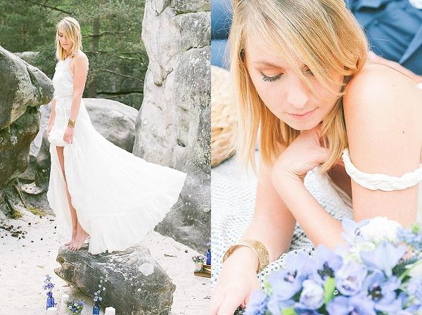 Light femanin wedding dress