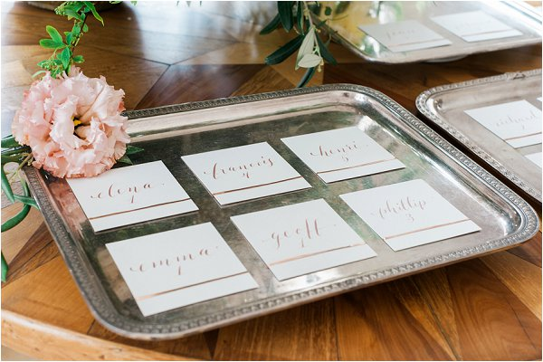 Luxury wedding calligraphy