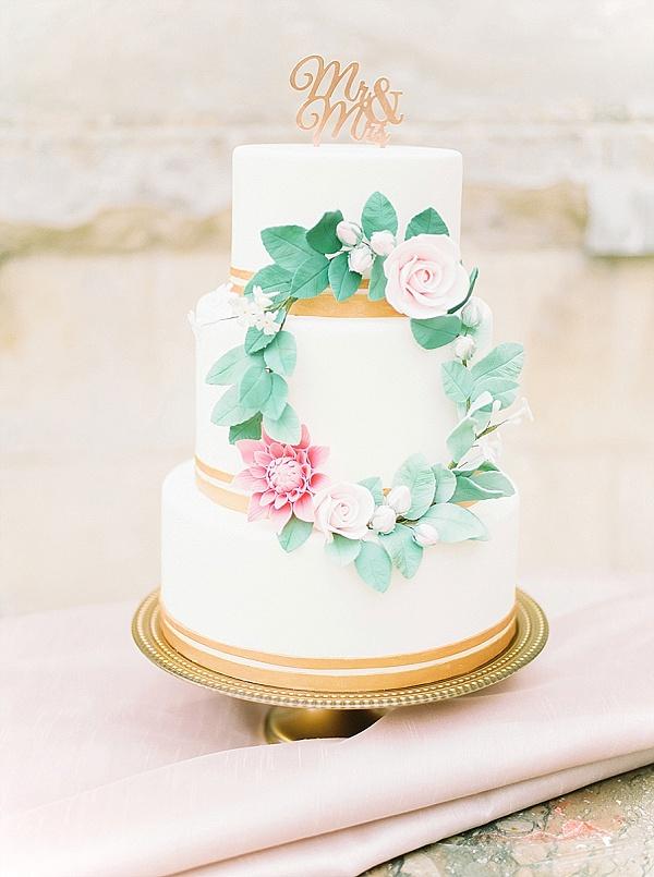 Mr & Mrs cake topper copper