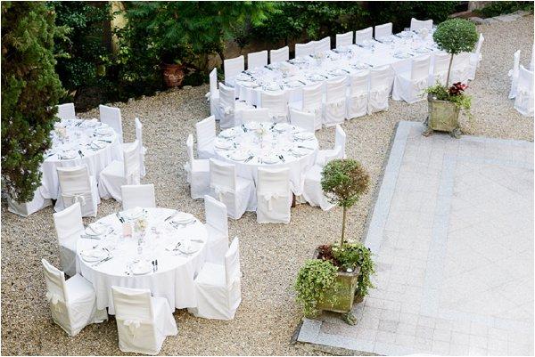 Outdoor wedding at Chateau de Mauriac