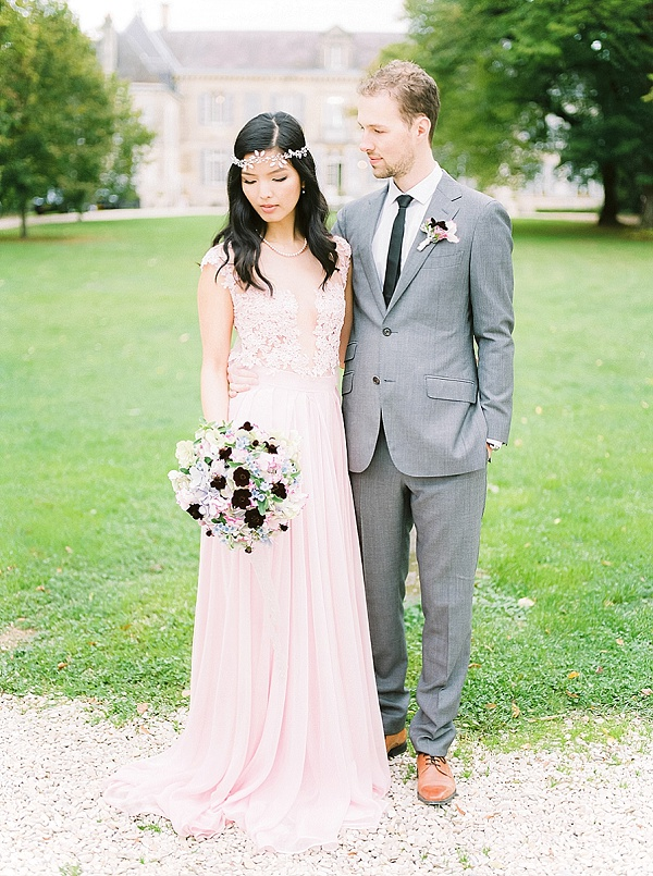 Pretty blooms for a french chateau wedding