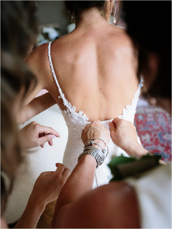 Pretty detail on the back of Sophia Tolli wedding gown