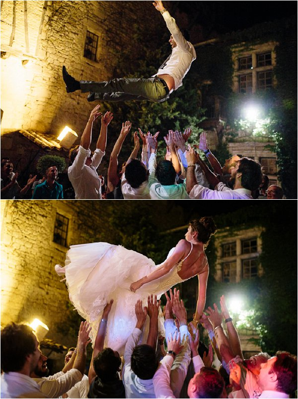 Real life Bride and groom literally floating on air
