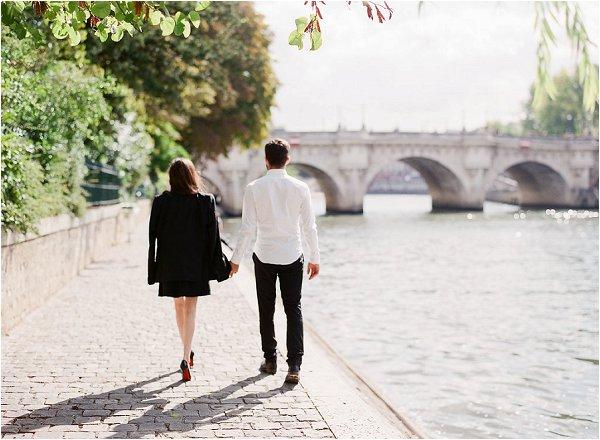 Romantic stroll along the Seine