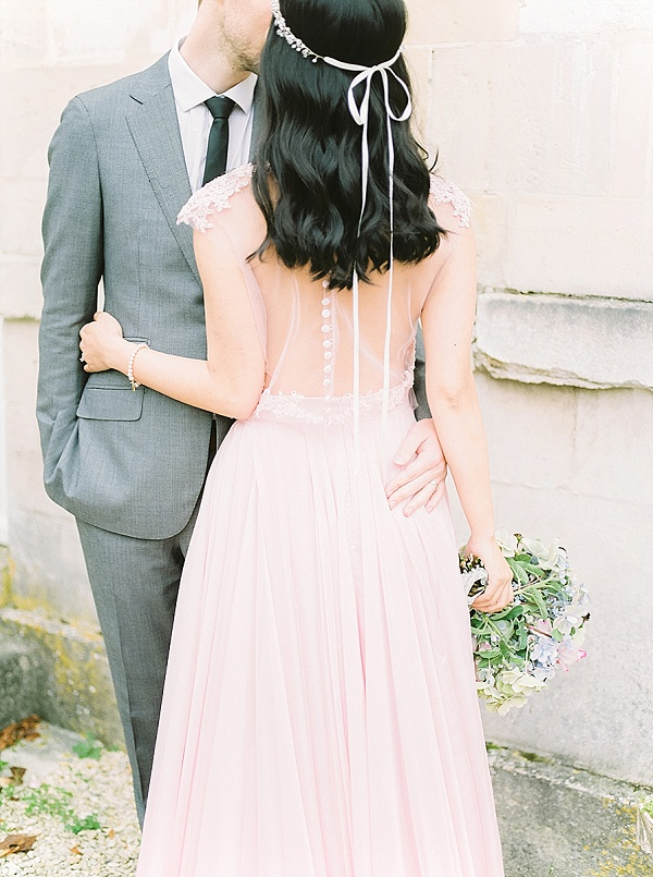 Sheer back wedding dress