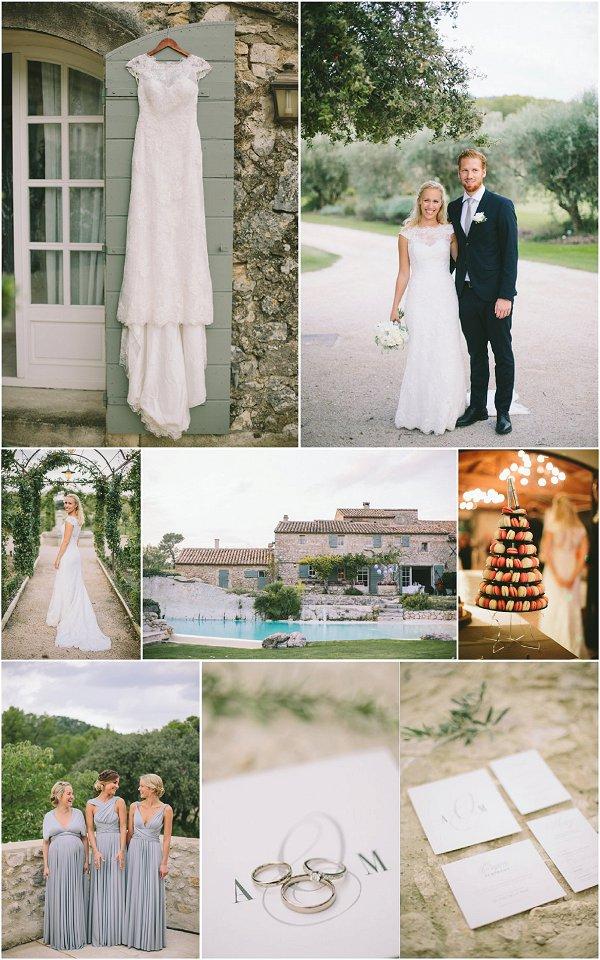 Simple and Elegant Le Mas de la Rose wedding Snapshot