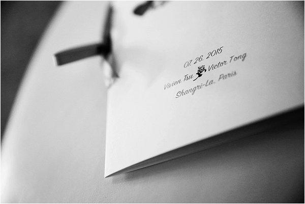 Simple and elegant wedding stationery for luxury Paris wedding