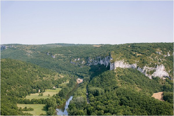 The beautiful Tarn landscape in France