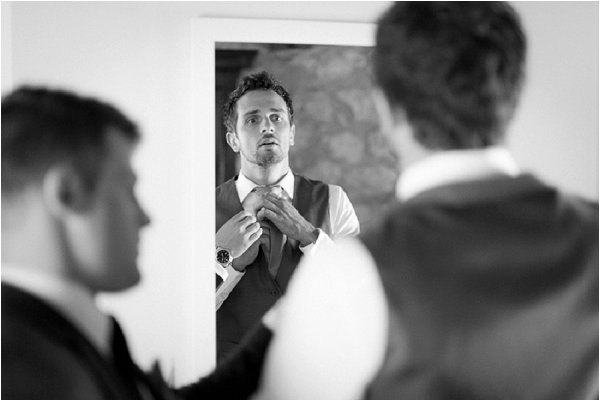 The grooms finishing touches in real life French wedding